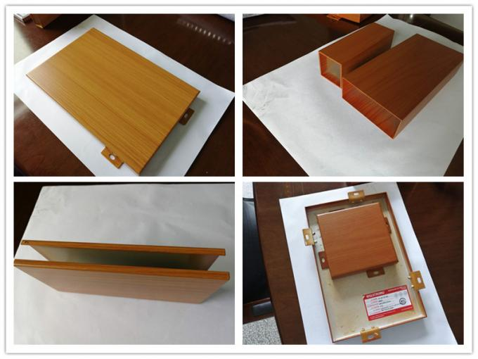 Customized Home Decoration  3mm Wood Grain Aluminum Panel
