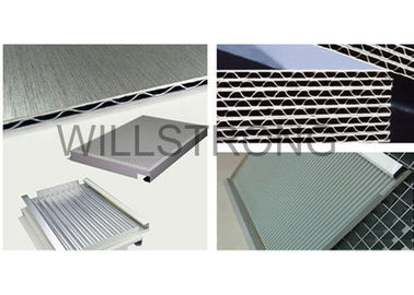 Rot Proof Corrugated Composite Panels Aluminum Panel Curtain Wall Retail Decor