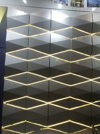 Light Weight 3D Cladding Panels With Or Without Perforated ACP / Aluminum Composite Panel